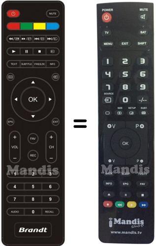 brandt telecomandi  Telecomando sostituto di Brandt001